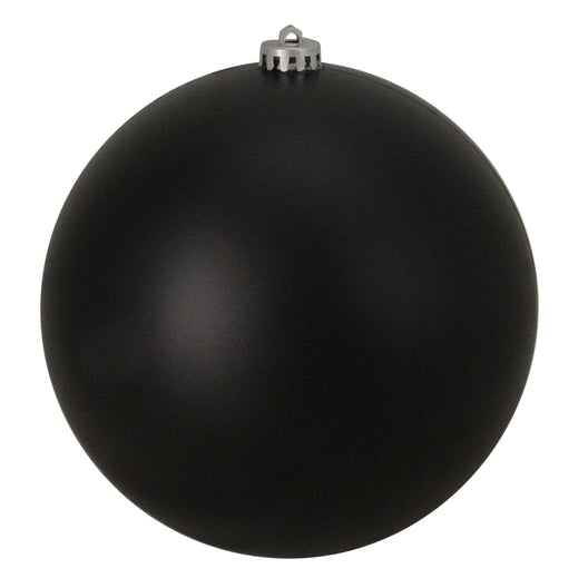 Jet Black Shatterproof Matte Christmas Ball Ornament 8