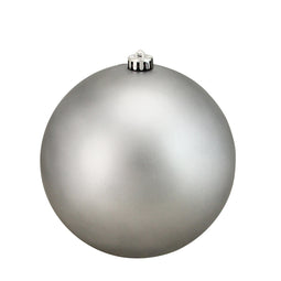 Pewter Gray Shatterproof Matte Christmas Ball Ornament 8