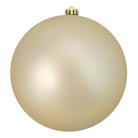 "Champagne Gold Shatterproof Matte Commercial Size Christmas Ball Ornament 8"" (200mm)"