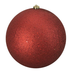 Red Hot Shatterproof Holographic Glitter Christmas Ball Ornament 10