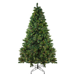7.5' Pre-Lit Sequoia Mixed Pine Artificial Christmas Tree - Clear Lights
