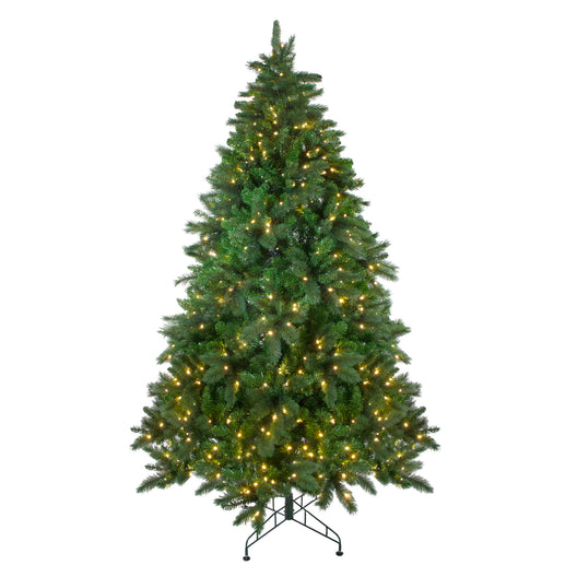 7.5' Pre-Lit Mixed Scotch Pine Artificial Christmas Tree - Warm White LED Lights