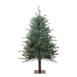 4.5' Pre-Lit Fairbanks Alpine Artificial Christmas Tree - Clear Lights