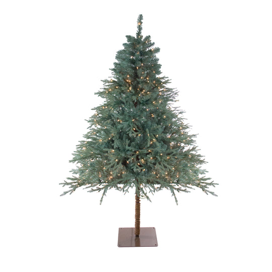 7.5' Pre-Lit Fairbanks Alpine Artificial Christmas Tree - Clear Lights