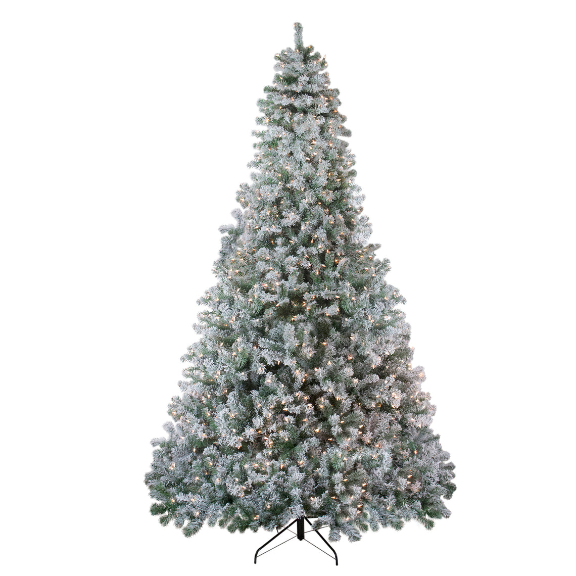 9' Pre-Lit Flocked Winema Pine Artificial Christmas Tree - Clear Lights