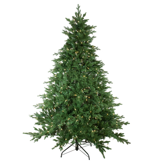 7.5' Pre-Lit LED Instant Connect Minnesota Balsam Fir Artificial Christmas Tree