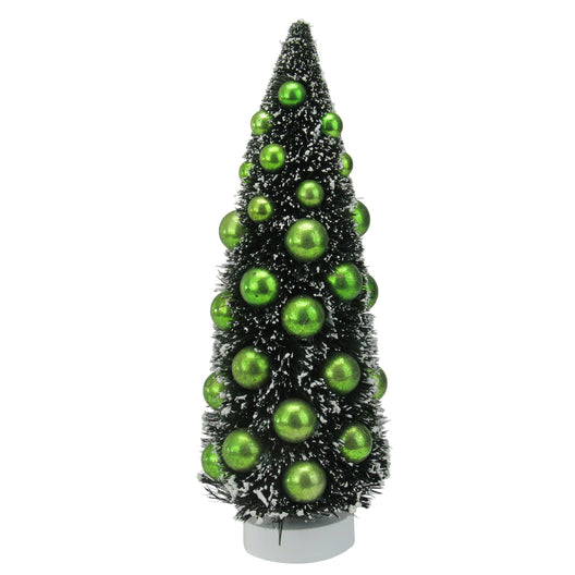 Dark Green Sisal Christmas Tree W/ Ornaments Table Top Decoration