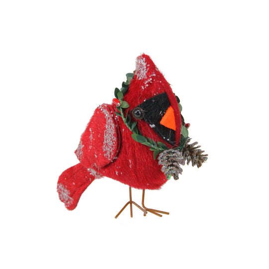 "7"" Glittered Red Cardinal Bird Hanging Christmas Ornament"