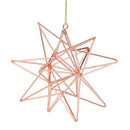 Load image into Gallery viewer, Rose Gold Geometric Star Christmas Ornament