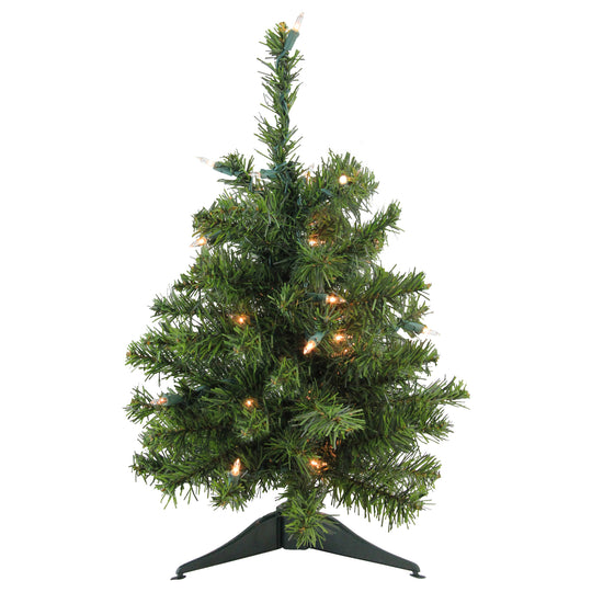 "18"" Pre-Lit Canadian Pine Artificial Christmas Tree - Clear Lights"