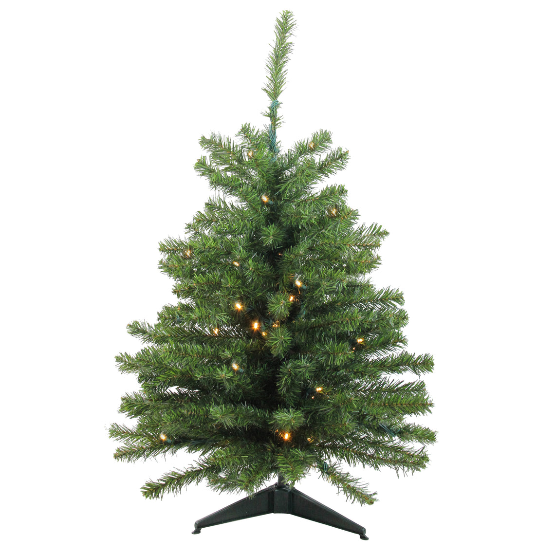 3' Pre-Lit LED Canadian Pine Artificial Christmas Tree - Clear Lights