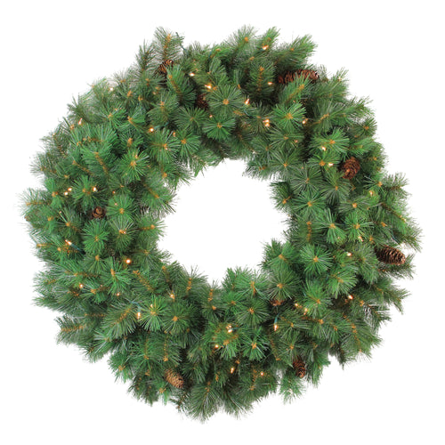 Pre-Lit Royal Oregon Pine Artificial Christmas Wreath  36-Inch Clear Lights