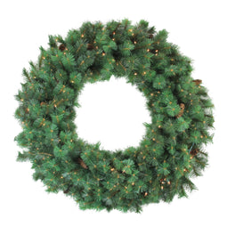Pre-Lit Royal Oregon Pine Artificial Christmas Wreath  48-Inch Clear Lights