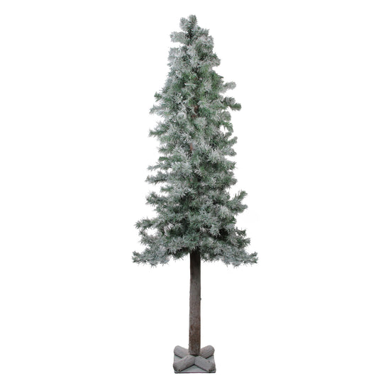 6' Flocked and Glittered Woodland Alpine Artificial Christmas Tree - Unlit