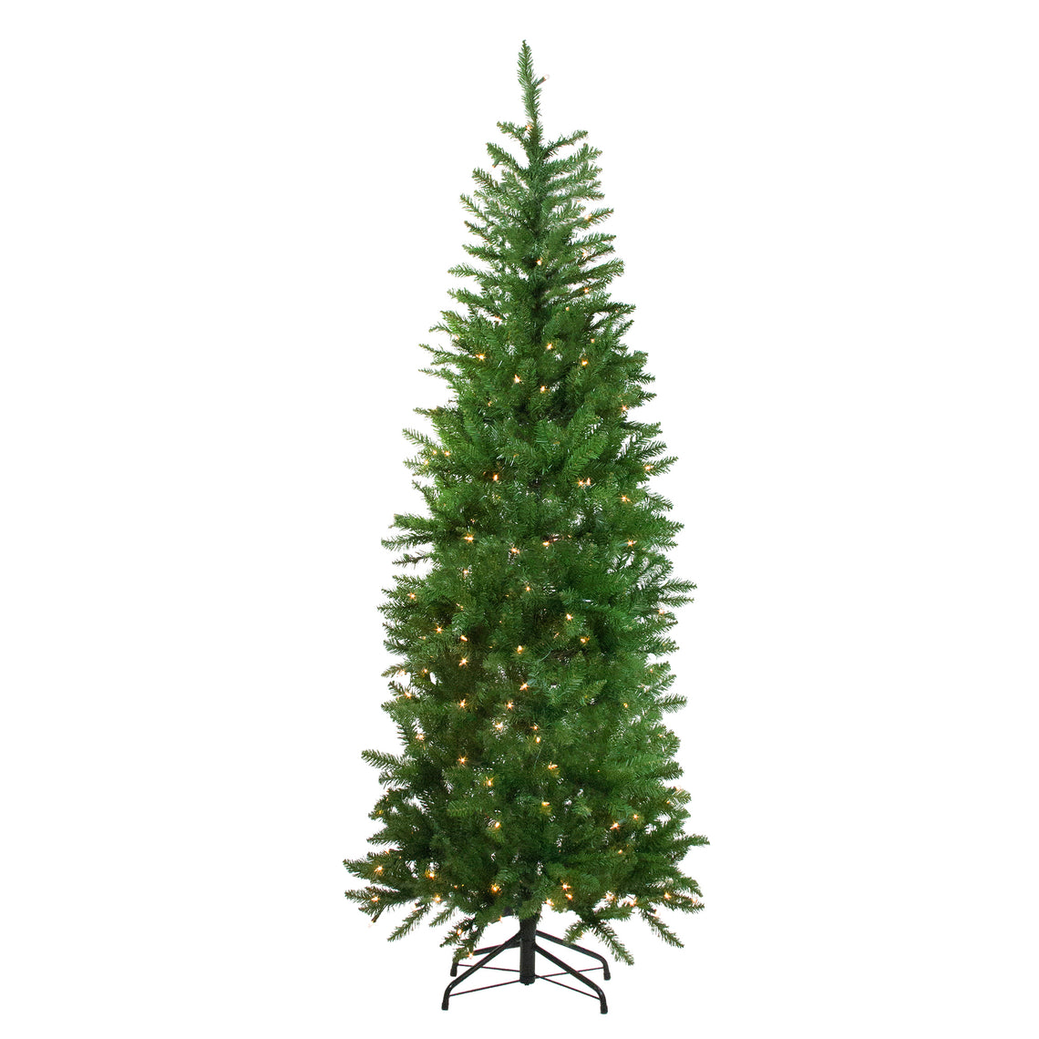 7.5' Pre-Lit White River Fir Artificial Pencil Christmas Tree - Clear Lights