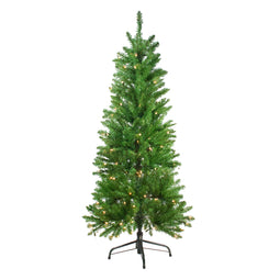 4.5' Pre-Lit White River Fir Artificial Pencil Christmas Tree - Clear Lights