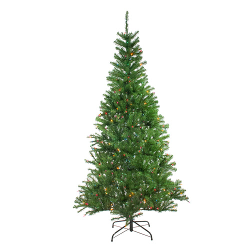 7' Pre-Lit Vail Spruce Medium Artificial Christmas Tree - Multi Lights