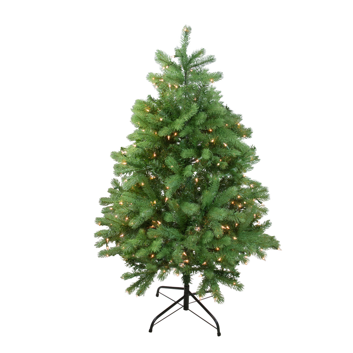 4' Pre-Lit Noble Fir Full Artificial Christmas Tree - Clear Lights
