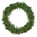 Load image into Gallery viewer, Pre-Lit Dakota Red Pine Artificial Christmas Wreath - 48-Inch  Warm White LED Lights