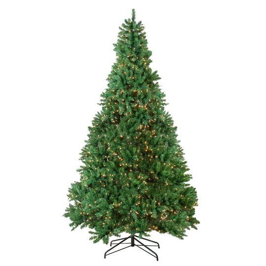 9.5' Pre-lit Medium Buffalo Fir Artificial Christmas Tree - Clear Lights