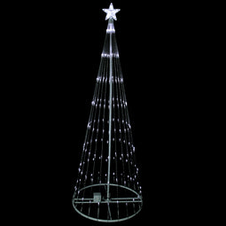 6' Pure White LED Lighted Show Cone Christmas Tree Outdoor Decoration