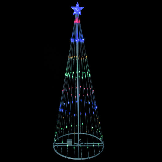 12' Multi-Color LED Lighted Show Cone Christmas Tree Outdoor Decoration