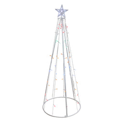 5' Multi-Color Led Lighted Show Cone Christmas Tree Outdoor Decoration