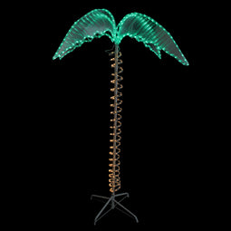 4.5' Green and Tan Palm Tree Rope Light Outdoor Decoration