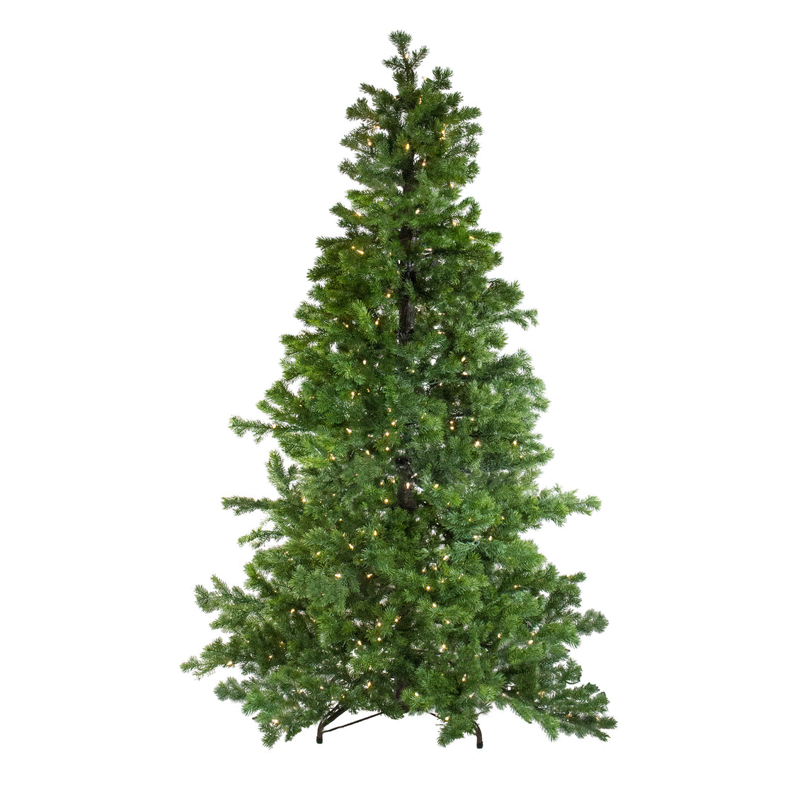 6.5' Layered Pine Instant Power Artificial Christmas Tree - Dual Color LED Lights