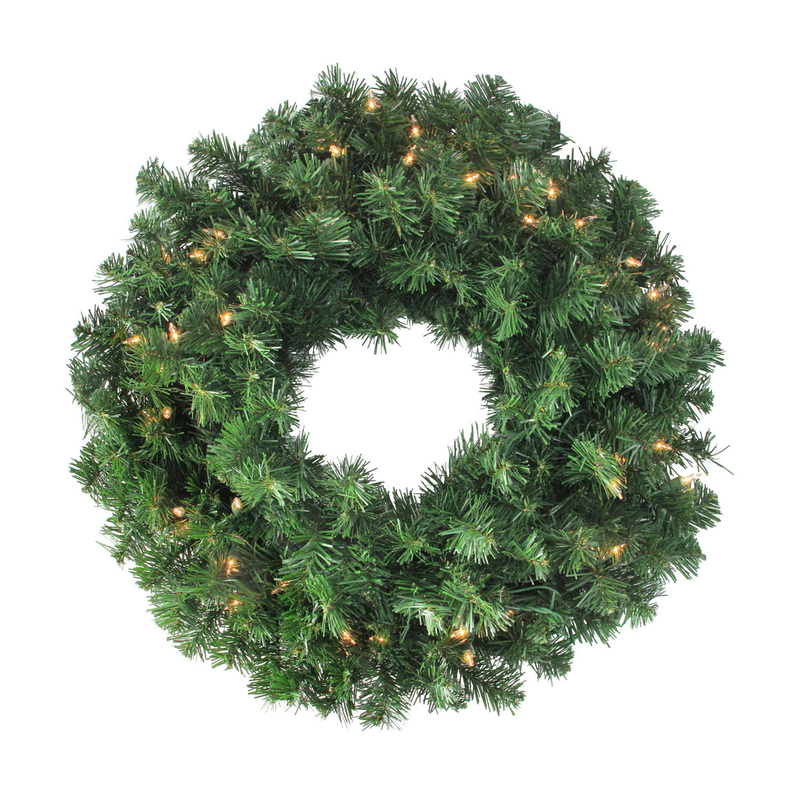 Mixed Canyon Pine Artificial Christmas Wreath - 24-Inch  Clear Lights,