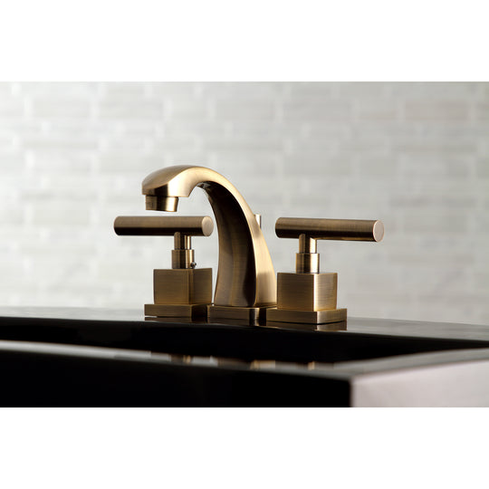 "Claremont 8 "" Widespread Bathroom Faucet, Antique Brass"