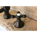 "Load image into Gallery viewer, Vintage 8 "" Widespread Bathroom Faucet In Cross Handle"