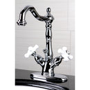 Load image into Gallery viewer, Heritage Two Handle Bathroom Faucet With Brass Pop Up & Cover Plate