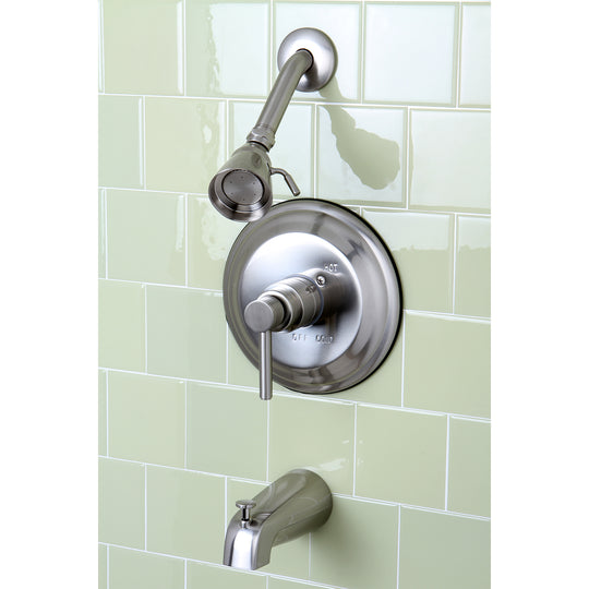 Concord Tub & Shower Faucet With Single Function Shower Head & Metal Lever Handle