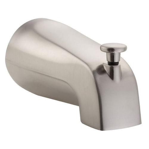 Bathtub Spout Valve W/ Diverter - 5.5 x 2.5 x 2.5 - 1/2 NPT Connection/Wallmount - Bathroom Plumbing Fixture