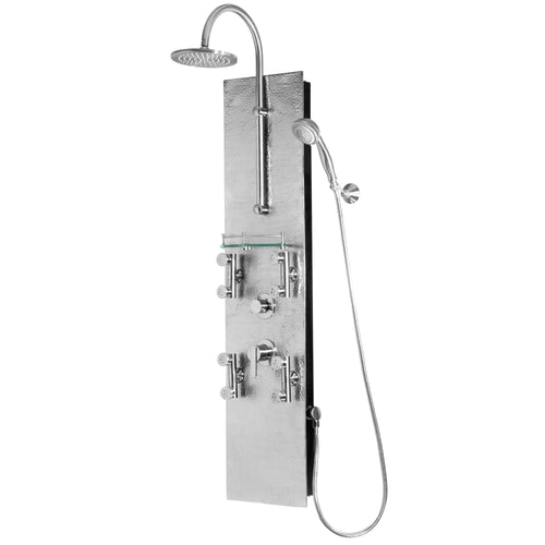 Hammered Nickel/Brushed Nickel Vaquero ShowerSpa Panel W/ 8
