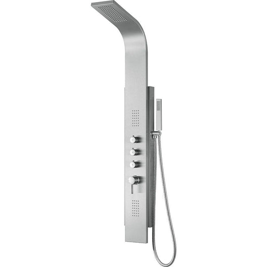 Sleek Brushed Stainless Steel Malibu Shower System - 7