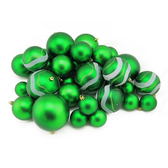 Matte And Glitter Shatterproof Christmas Ball Ornaments 2.4""