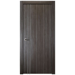 Palladio 2V Interior Door in Gray Oak Finish - Door Slab Only