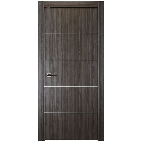 Palladio 4H Interior Door in Gray Oak Finish - Door Slab Only