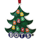 "Load image into Gallery viewer, 3"" Silver Plated ""Dots"" Candy Logo Christmas Tree Ornament With European Crystals"