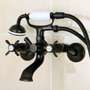 "Load image into Gallery viewer, Essex Clawfoot Tub Faucet With Hand Shower In 7.5 "" Spout Reach"
