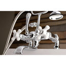 "Load image into Gallery viewer, Aqua Vintage 7 "" Tub Faucet & 2 Hole Installation With Hand Shower"