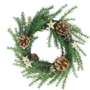 "Load image into Gallery viewer, 11"" Classic Pine with Pine Cones and Stars Christmas Wreath - Unlit"