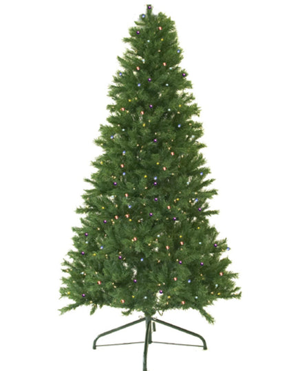 7' Pre-Lit Canadian Pine Artificial Christmas Tree - Multi LED Lights Darice Cl412421Ledm