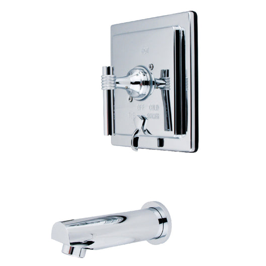Tub Only With Pressure Balance Valve, Polished Chrome