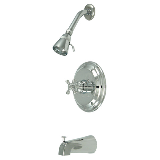 Water Saving Metropolitan Tub & Shower Faucet With Cross Handles