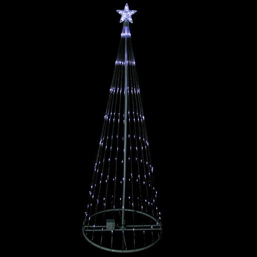 6' Pure White LED Lighted Cone Tree Outdoor Christmas Decoration