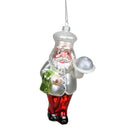 "Load image into Gallery viewer, 5.75"" Glass Santa Chef Decorative Christmas Ornament"