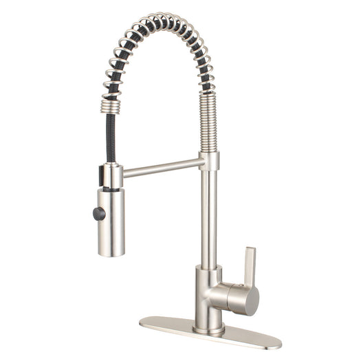 Gourmetier Continental Single Handle Pre Rinse Kitchen Faucet
